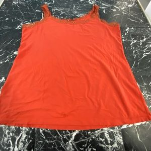 Maurices orange lace tank